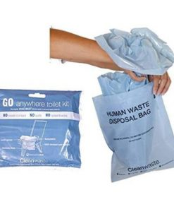 GO anywhere toilet waste kits - biodegradable waste bags