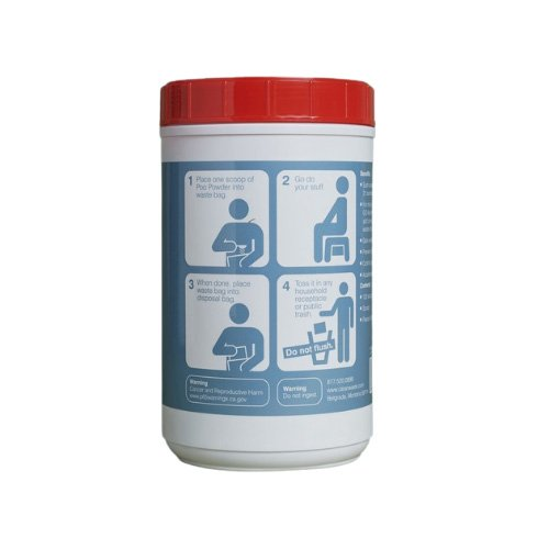 Poo Powder by CleanWaste - Gels and Solidifies Liquid and Solid Human Waste