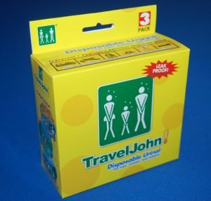 TravelJohn Disposable Portable Urinal