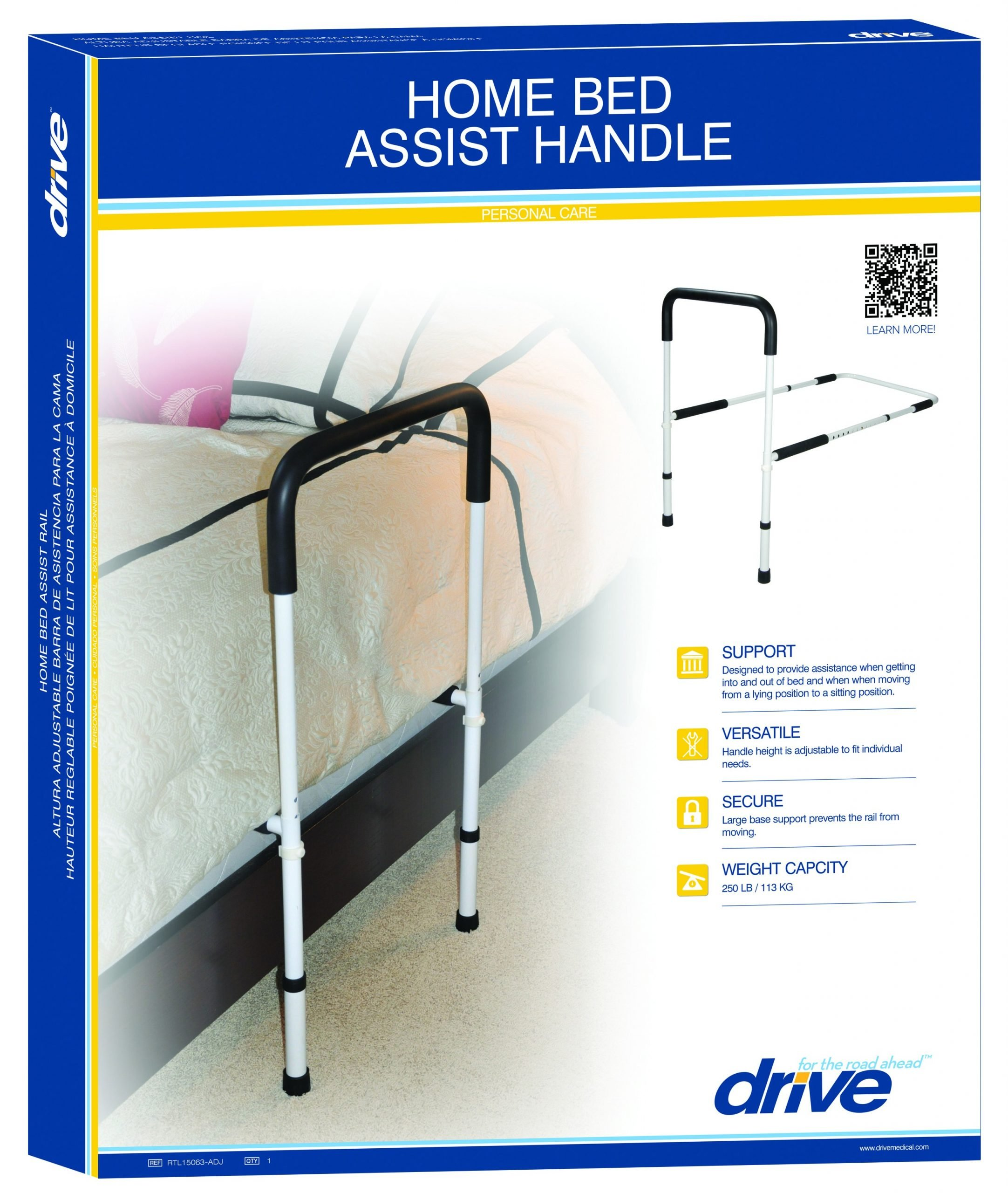 Adjustable Height Home Bed Assist Handle Bed Safety Rail
