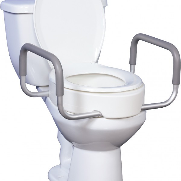 Toilet Seat Riser with Removable Arms | Bathroom Safety | BioRelief