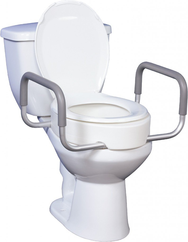 Toilet Seat Riser With Removable Arms Bathroom Safety