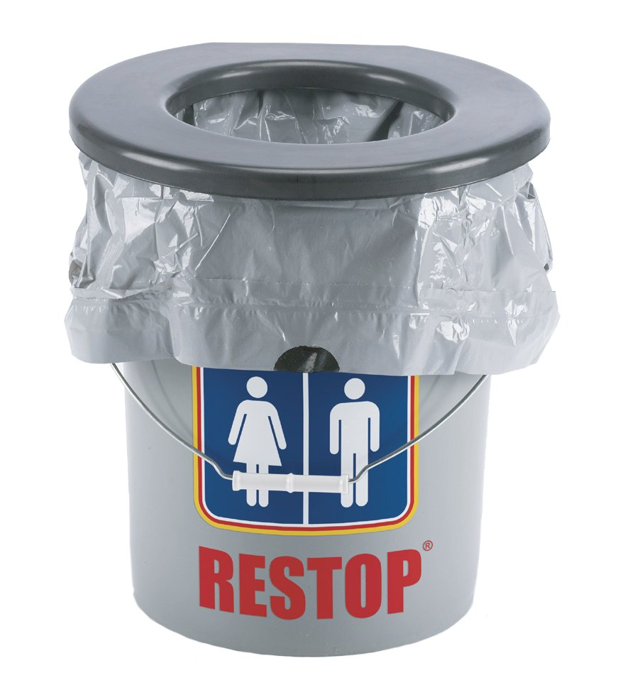 Restop 5 Gallon Bucket Portable Toilet for Camping  BioRelief