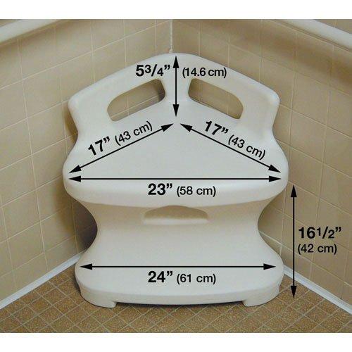Corner Shower Seat | Sturdy Plastic Bath Chair | BioRelief
