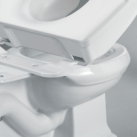 Moen Glacier Elevated Toilet Seat Riser Bathroom Safety