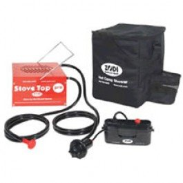 Zodi Stove Top Hot Water Heater System Camping Shower BioRelief