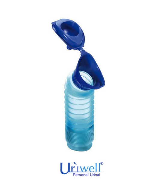 Blue Uriwell unisex personal toilet portable urinal available at BioRelief