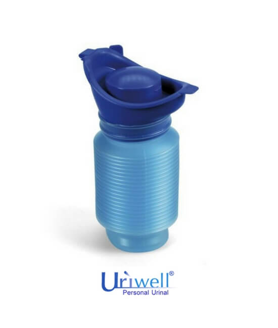 Uriwell unisex personal toilet portable urinal available at BioRelief - collapses to compact size