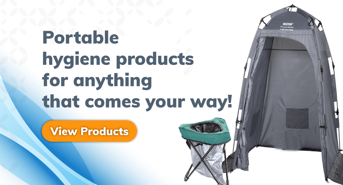 Portable hygiene products for anything that comes your way - Portable Toilets - BioRelief