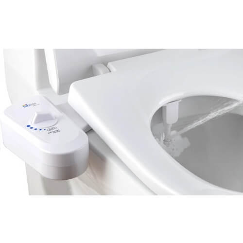 BB-70 Bidet Attachment by BioBidet - Toilet Seat Bidet system - How it looks after installation