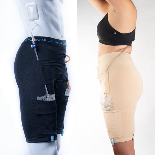 Medical Underwear to Manage Leg Bags and Tubing - Urinary Incontinence - Unisex and strapless