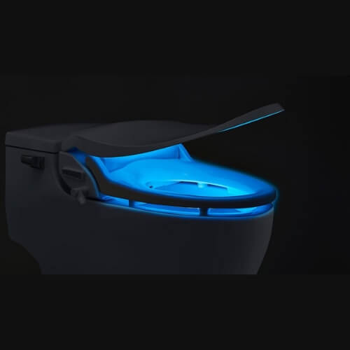 Toilet Seat Bidet - Personal Hygiene Tools - Slim TWO By BioBidet with soft light for nighttime