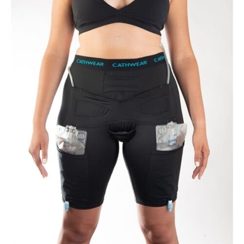Underwear to Manage Leg Bags and Tubing - Urinary Incontinence - Woman Sample Fit Front View