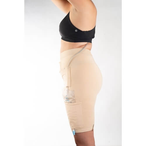Underwear to Manage Leg Bags and Tubing by CathWear - Urinary Incontinence - Woman Sample Side