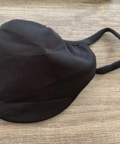 Washable Preventive Mask - Aramark 91461 - 3 Layer Fabric Face Mask - Black