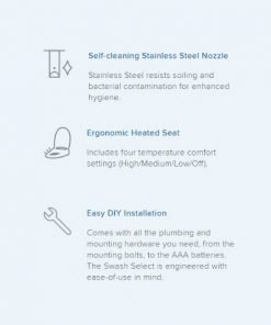 features of the swash bl97 toilet seat bidet - brondell