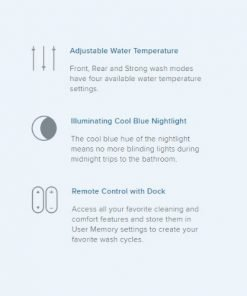 features of the swash bl97 toilet seat bidet by brondell