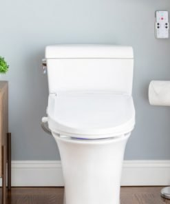 installed brondell swash bl97 toilet seat bidet - elongated shape