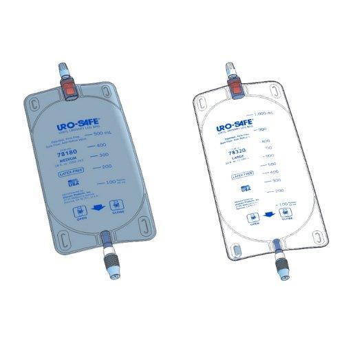 uro-safe disposable vinyl urinary leg bag - urocare
