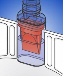 vinyl urinary leg bag - high flow anti-reflux valve