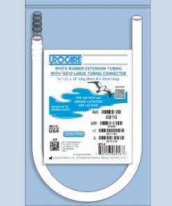 white tubing for external catheter - connect to leg bag